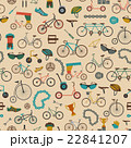 Bicycle seamless pattern. Colour flat design 22841207
