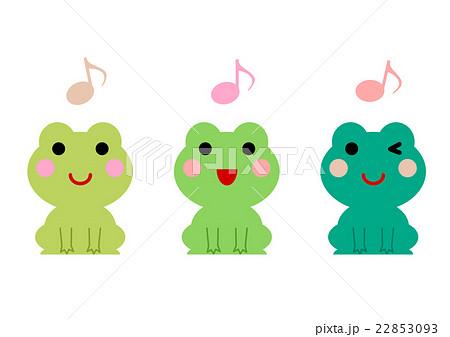 音符とカエル イラスト のイラスト素材 22853093 Pixta