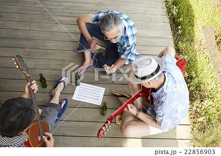 趣味を楽しむシニア 音楽 22856903