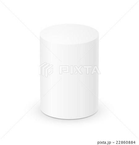 blank white cylinder 3d templateのイラスト素材 22860884 pixta