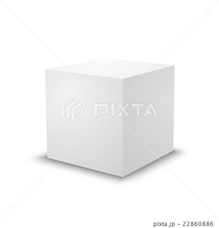blank white cube 3d box template のイラスト素材 22860886 pixta