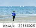 ランニング 走る 若者の写真 22866025