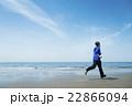 ランニング 走る 若者の写真 22866094