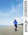 ランニング 走る 若者の写真 22866096