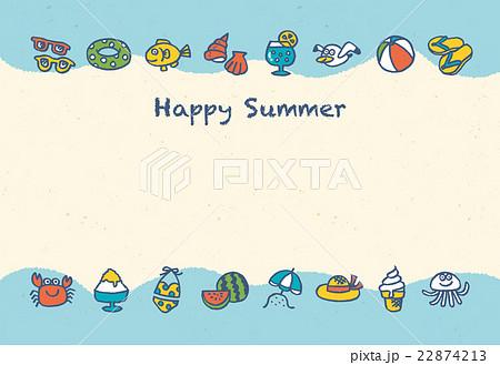 暑中見舞い 22874213