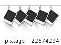 ポラロイド 吊るす ポラロイド写真のイラスト 22874294