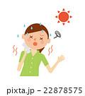 熱中症 女性 イラスト 22878575