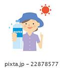 熱中症対策 シニア 女性 イラスト 22878577