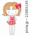 Girl on a pink dress cartoon isolated background. 22883130