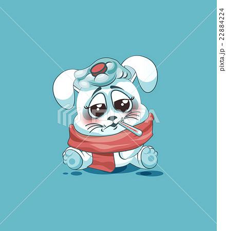 isolated Emoji character cartoon White leveret 22884224