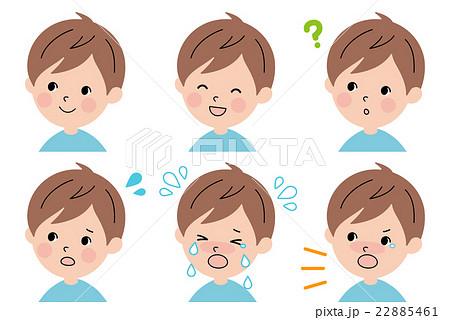男の子の表情セットのイラスト素材 22885461 Pixta