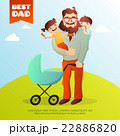子ども 子供 おとうさんのイラスト 22886820