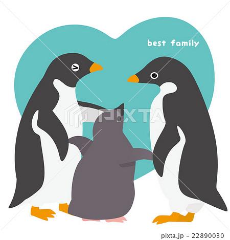 アデリーペンギン 家族 22890030