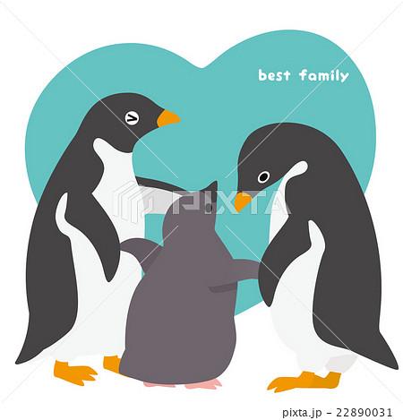アデリーペンギン 家族 22890031