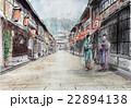 金沢の東茶屋街のスケッチ画 22894138