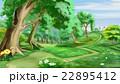 道 道すじ 樹木のイラスト 22895412