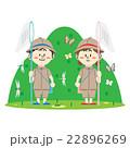 山で昆虫採集 22896269