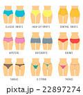 Female underwear panties types flat vector icons 22897274