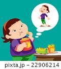 ダイエット 食事をする 食事のイラスト 22906214