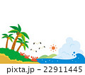南国 カニと海のイラスト 22911445