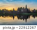 神社 朝焼け 日の出の写真 22912267