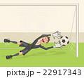 サッカー ゴールキーパー ボールのイラスト 22917343
