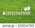 芝生のInvitation(文字ブロック) 22924760