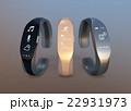 半透明シリコン素材を用いたスマートバンドのイメージ。オリジナルデザイン。 22931973