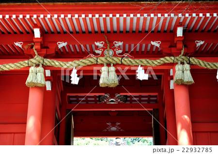 下関市 住吉神社神門としめ縄 22932785