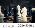 チェス 駒 チェス盤の写真 22945491