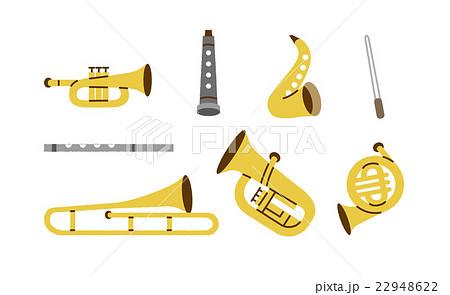 吹奏楽部 楽器いろいろのイラスト素材 22948622 Pixta