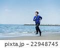 ランニング 海岸 男性の写真 22948745