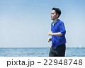 ランニング 海岸 男性の写真 22948748