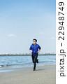 ランニング 海岸 男性の写真 22948749