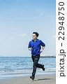 ランニング 海岸 男性の写真 22948750