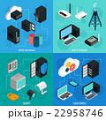 セット 組み合わせ ネットワークのイラスト 22958746