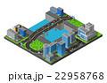 都市景観 ビル 建物のイラスト 22958768