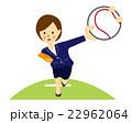 野球をする女性 スーツ 22962064