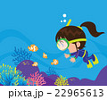 Cute girl  diver under the sea 22965613