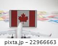 カナダ国旗 飛行機 22966663