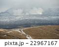 雪の積もった阿蘇山頂 中岳 22967167