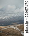 雪の積もった阿蘇山頂 中岳 22967170