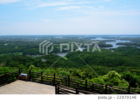 横山展望台からのぞむ英虞湾 22970146