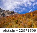 谷川岳 紅葉 青空の写真 22971609