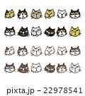 いろいろな猫、表情イラスト 22978541
