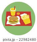 ハンバーガーセット 22982480