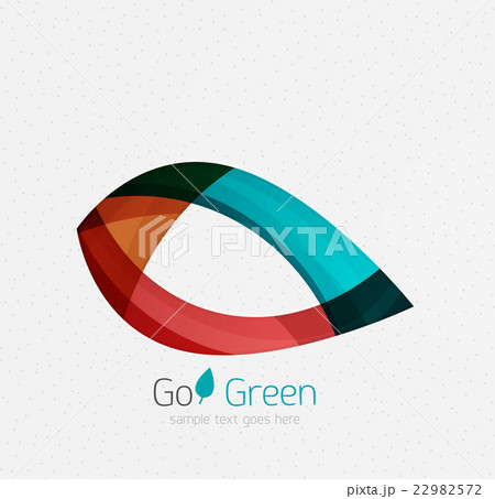 Green concept, geometric design eco leafのイラスト素材 [22982572] - PIXTA