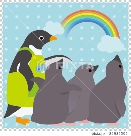 アデリーペンギン 保育園 虹 22983593
