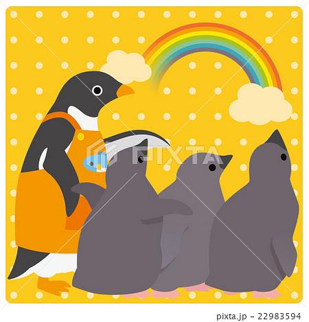アデリーペンギン 保育園 虹 22983594