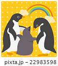 アデリーペンギン 虹 ひなのイラスト 22983598